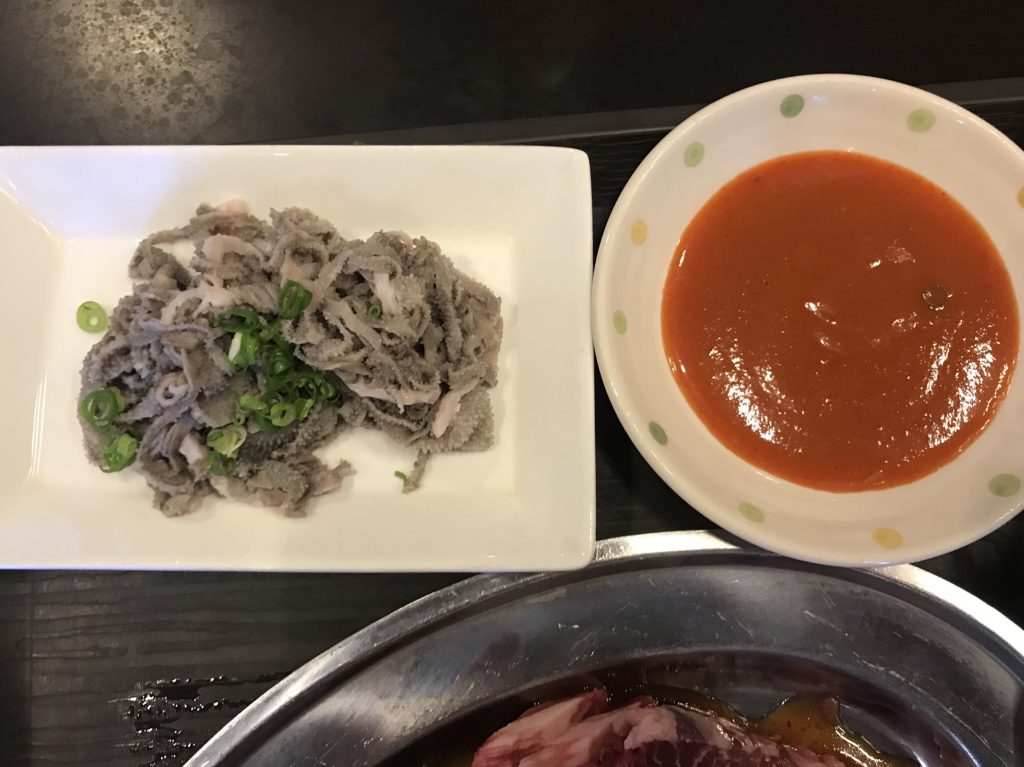 酢味噌タレ付きの生センマイ